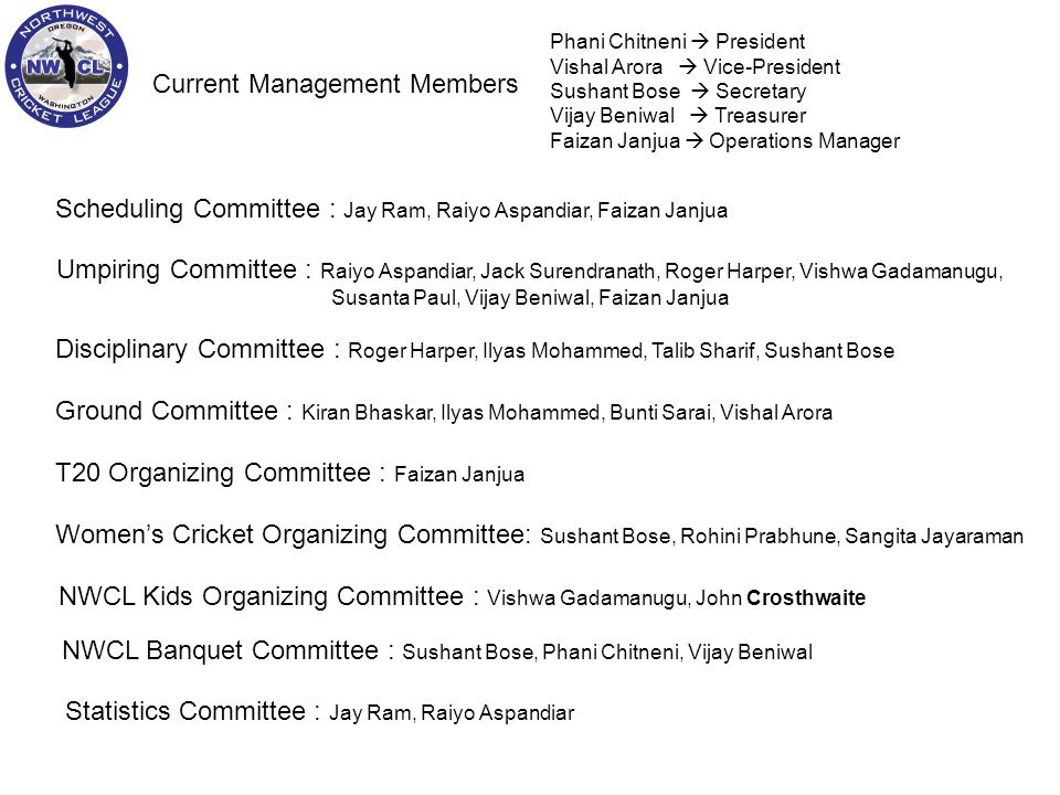 Current Management Members