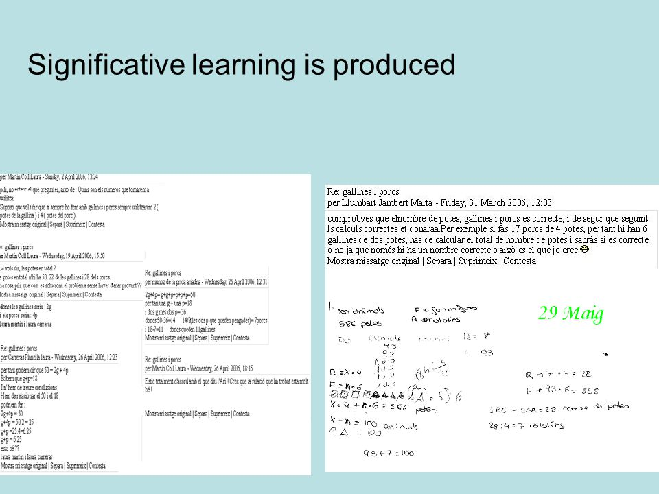 Significative learning is produced