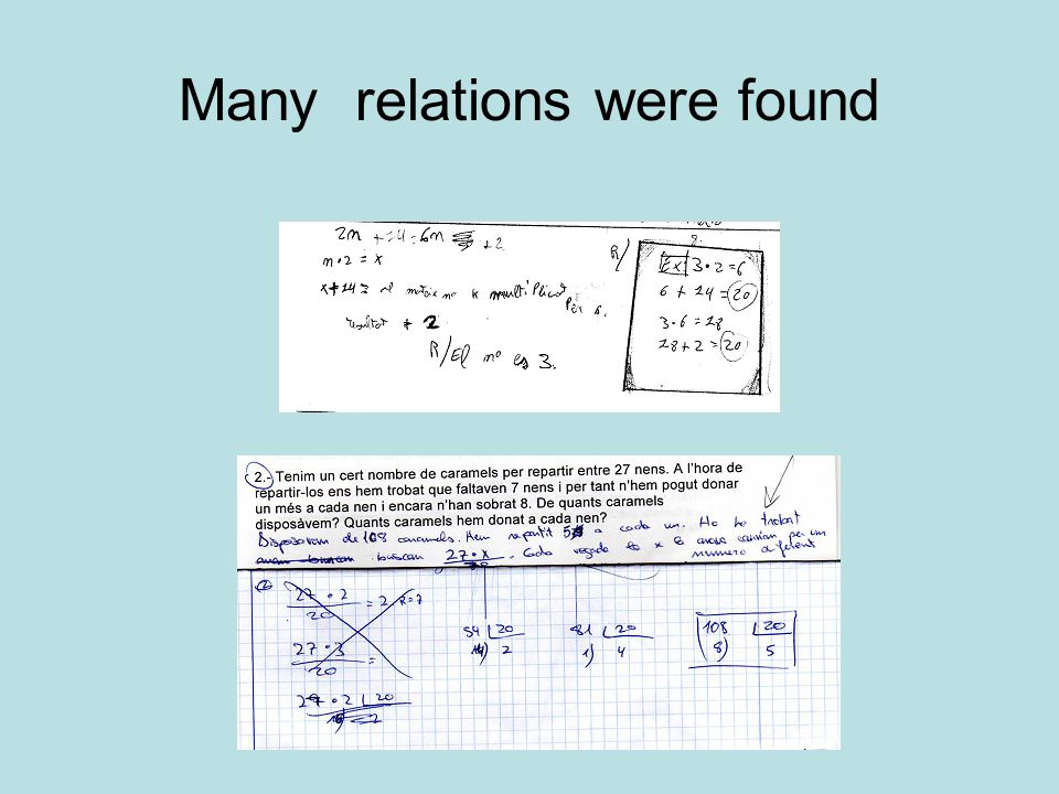Many relations were found
