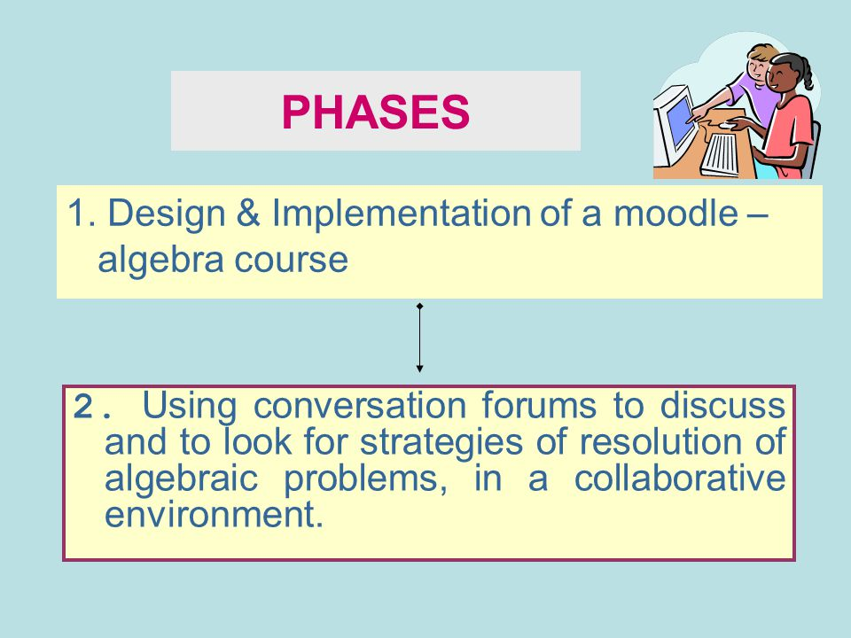 PHASES 1. Design & Implementation of a moodle –algebra course