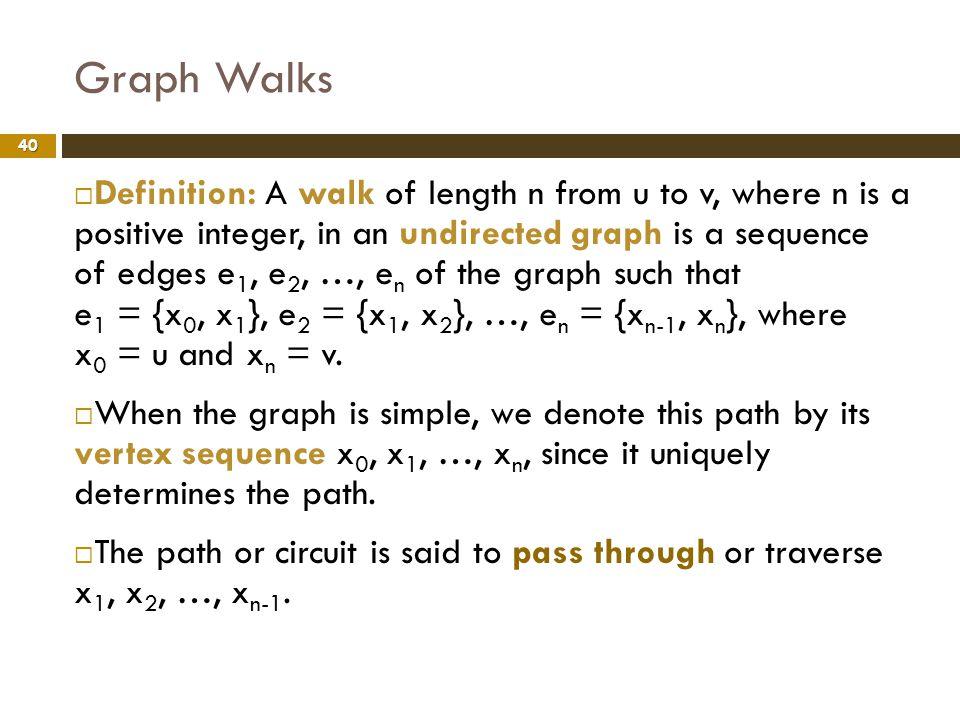 Graph Walks