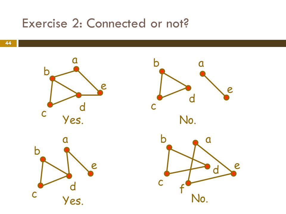 Exercise 2: Connected or not