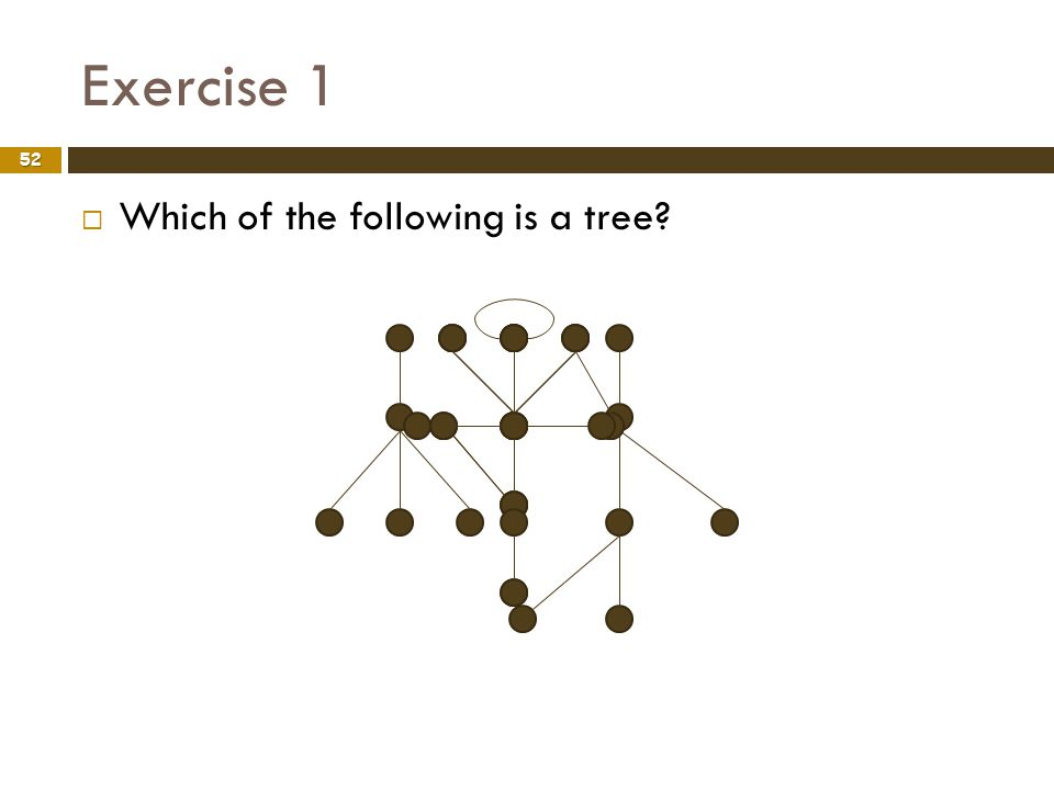 Exercise 1 Which of the following is a tree