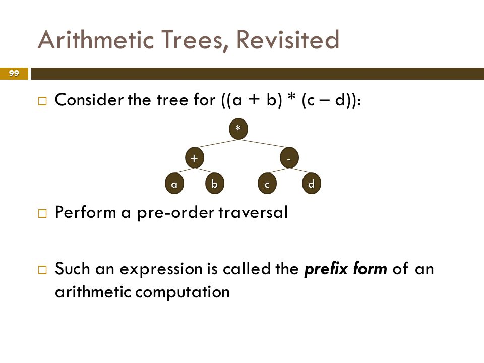 Arithmetic Trees, Revisited