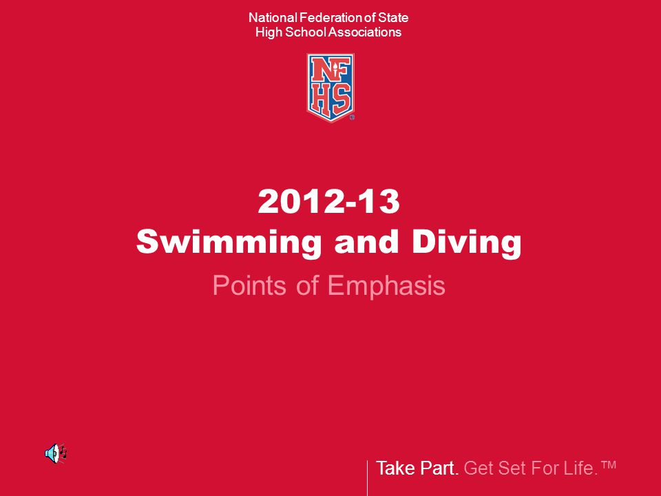 2012-13 Swimming and Diving Points of Emphasis