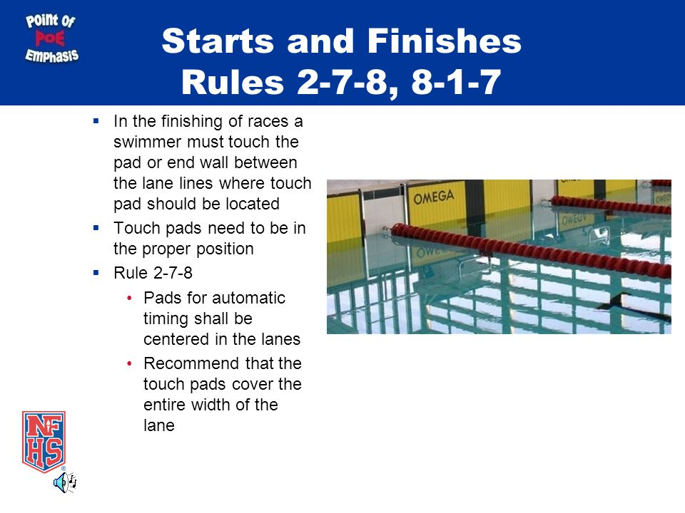 Starts and Finishes Rules 2-7-8, 8-1-7
