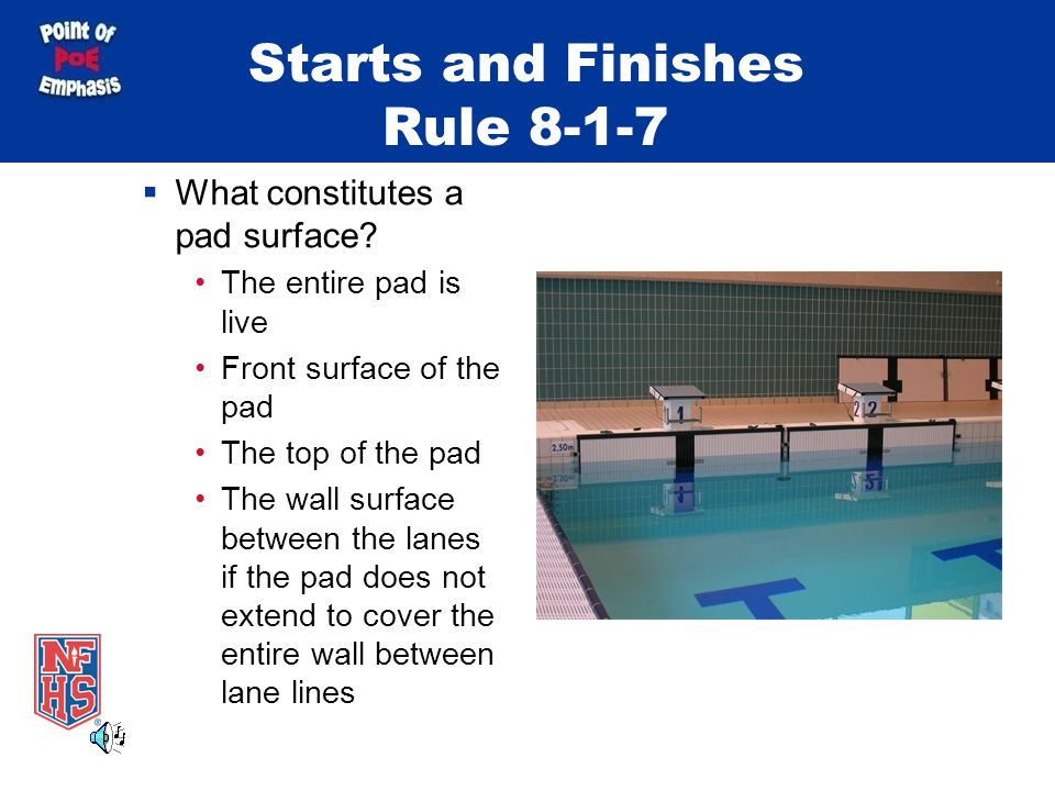 Starts and Finishes Rule 8-1-7