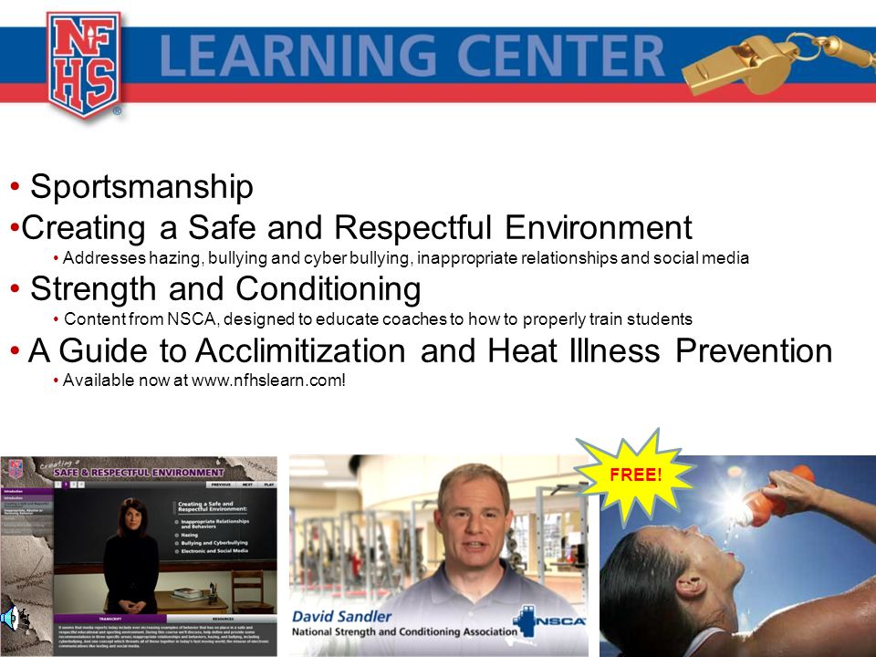 Creating a Safe and Respectful Environment Strength and Conditioning