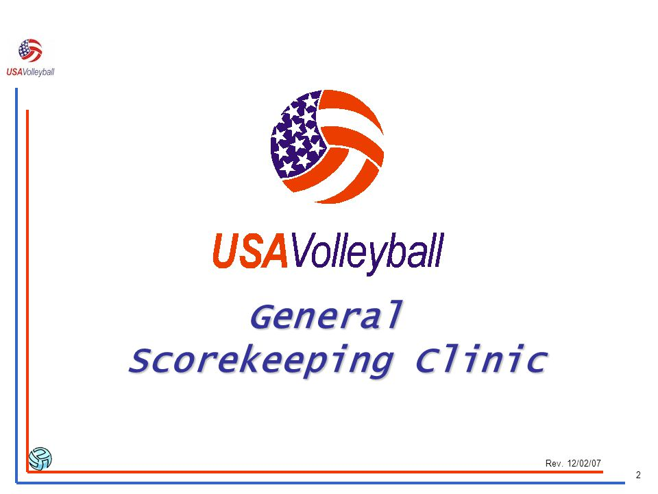 General Scorekeeping Clinic