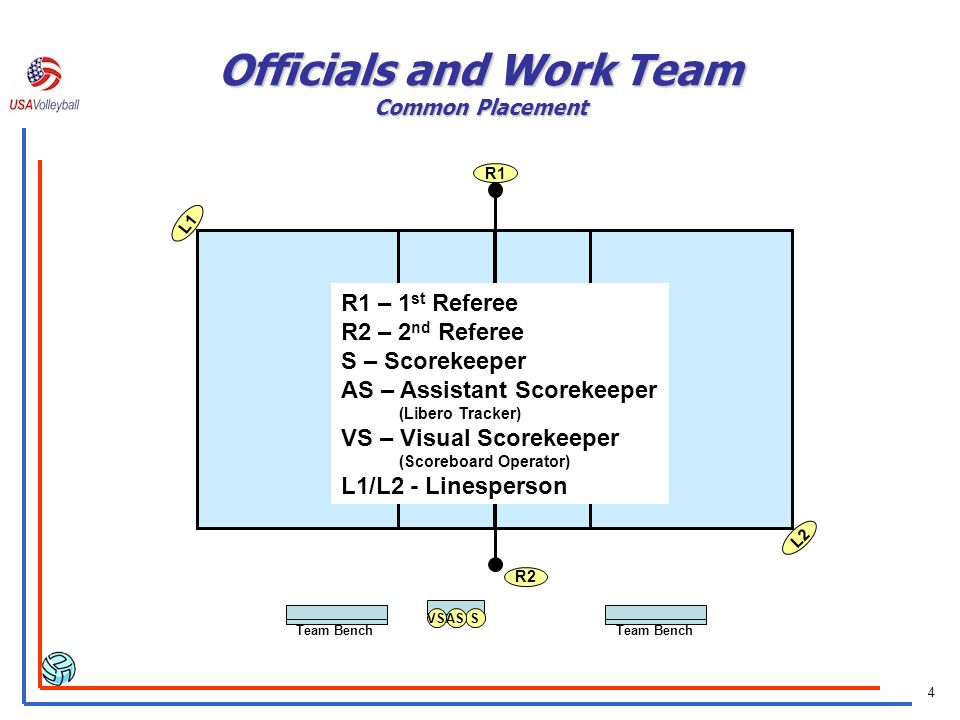 Officials and Work Team Common Placement