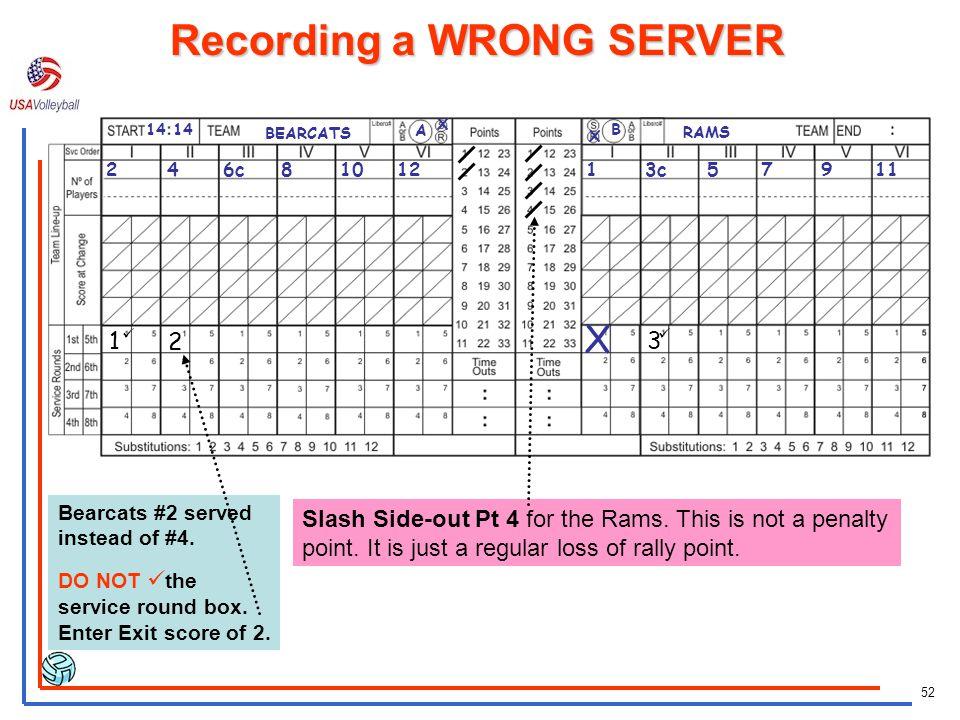 Recording a WRONG SERVER