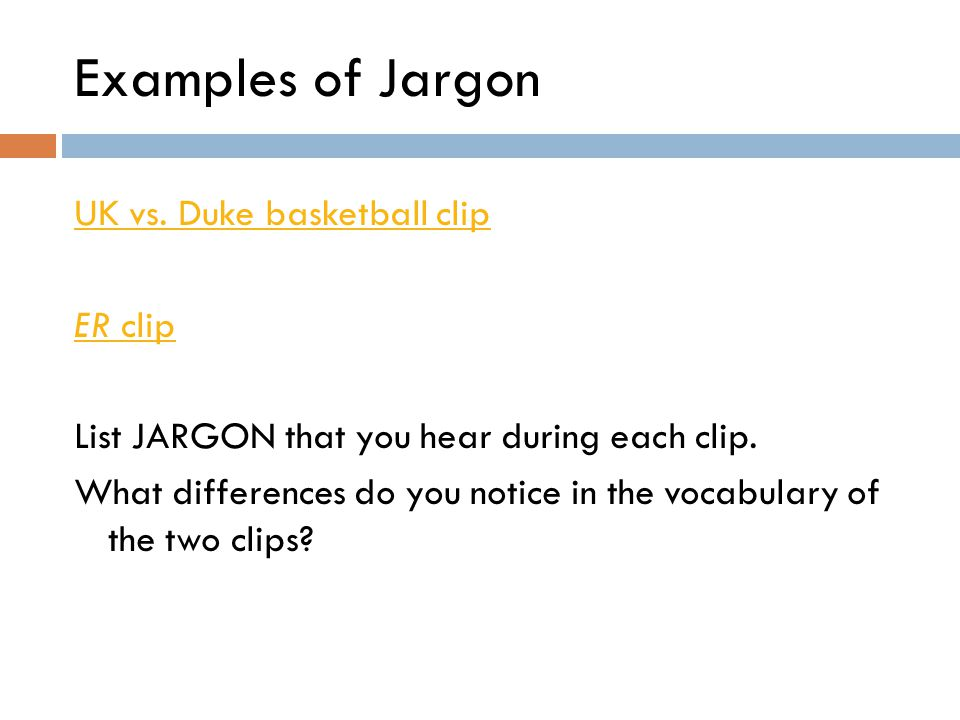 Examples of Jargon UK vs. Duke basketball clip ER clip