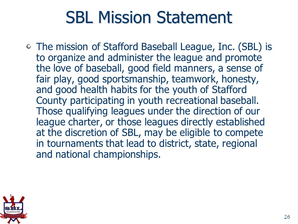 SBL Mission Statement