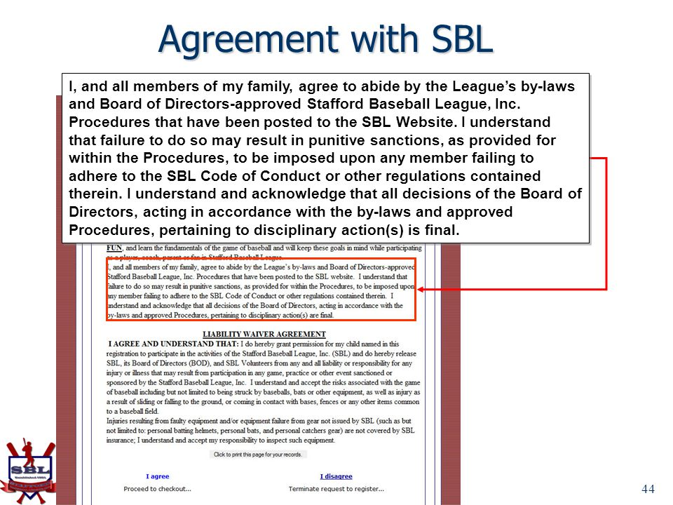 Agreement with SBL