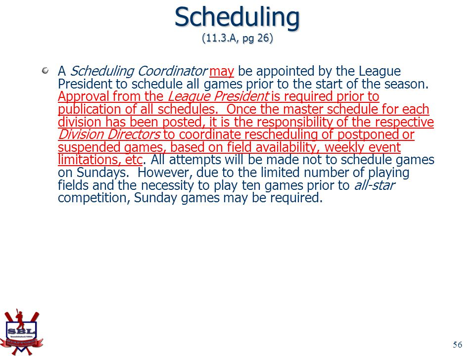 Scheduling (11.3.A, pg 26)
