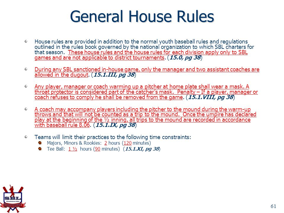 General House Rules