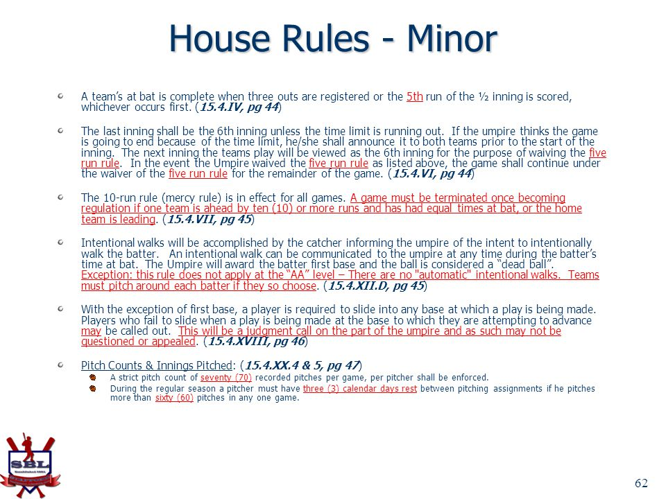 House Rules - Minor