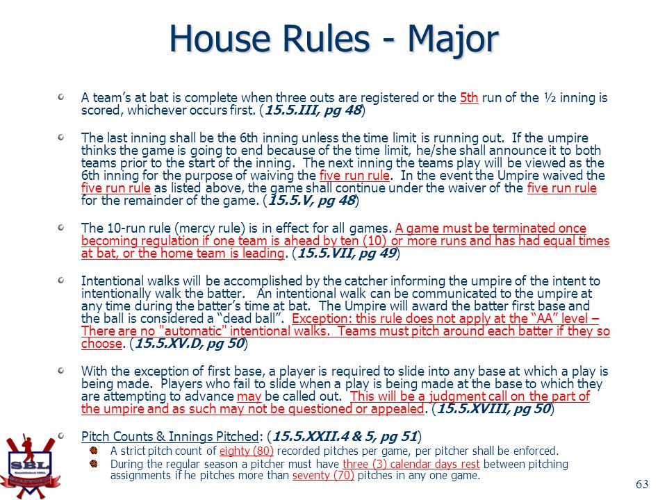 House Rules - Major