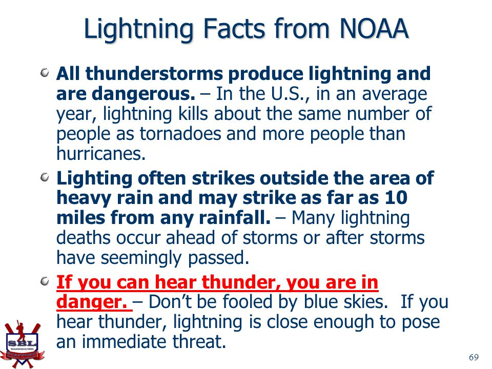 Lightning Facts from NOAA