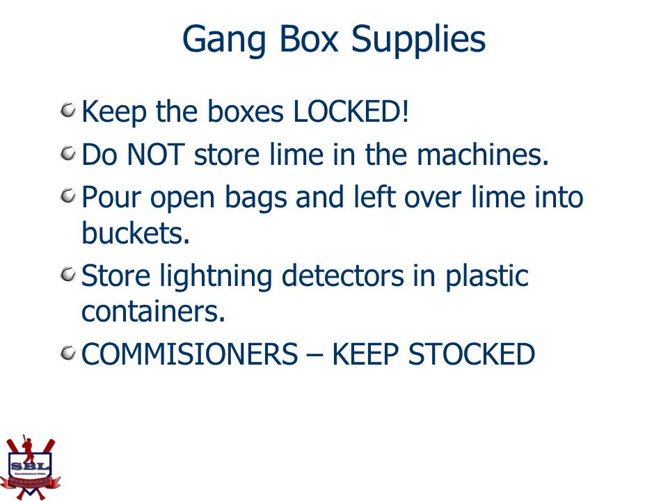 Gang Box Supplies Keep the boxes LOCKED!
