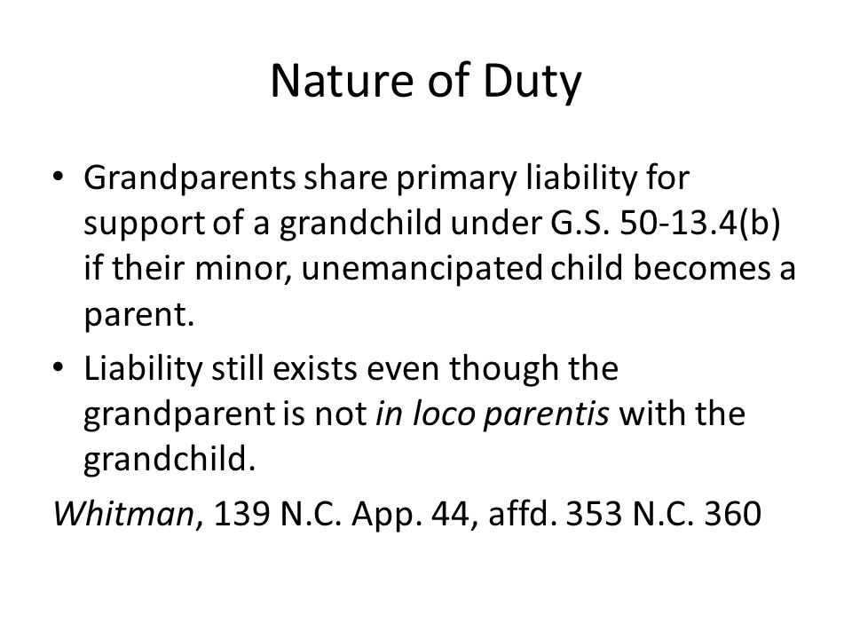 Nature of Duty