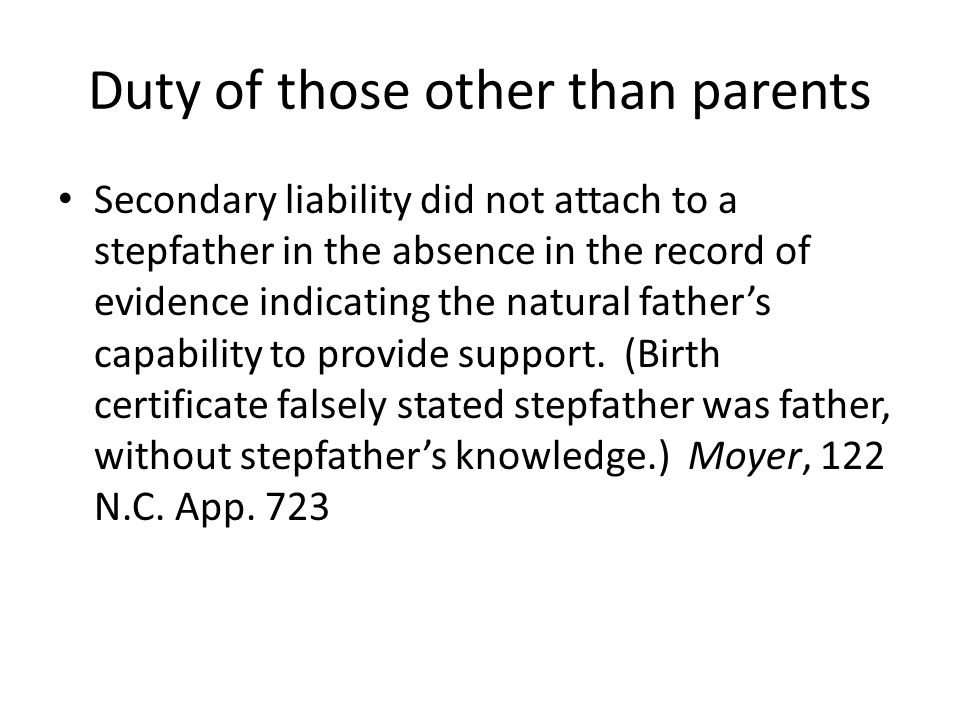 Duty of those other than parents