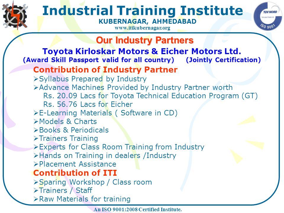 Toyota Kirloskar Motors & Eicher Motors Ltd.