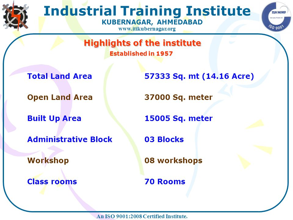 Highlights of the institute