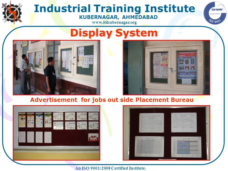 Display System Advertisement for jobs out side Placement Bureau