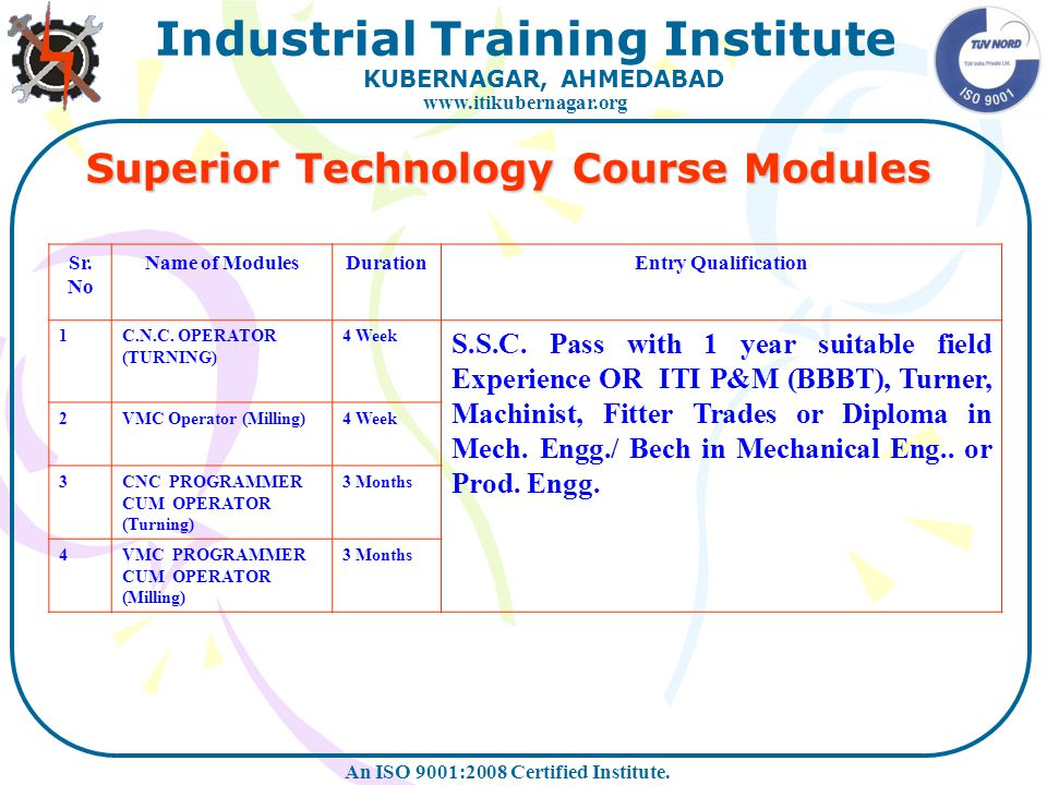 Superior Technology Course Modules