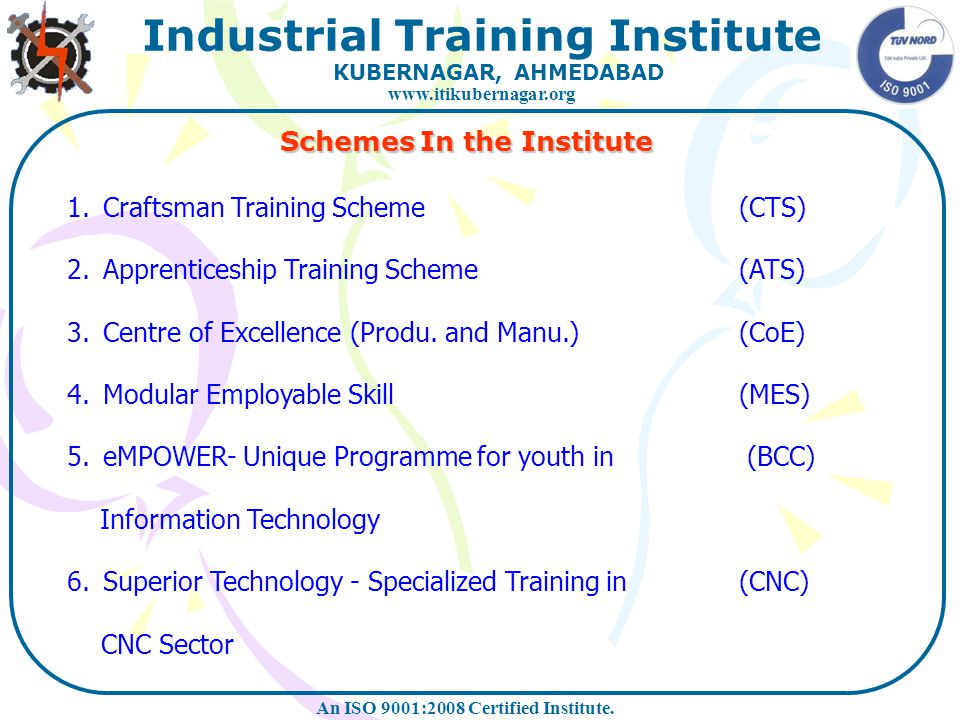 Schemes In the Institute
