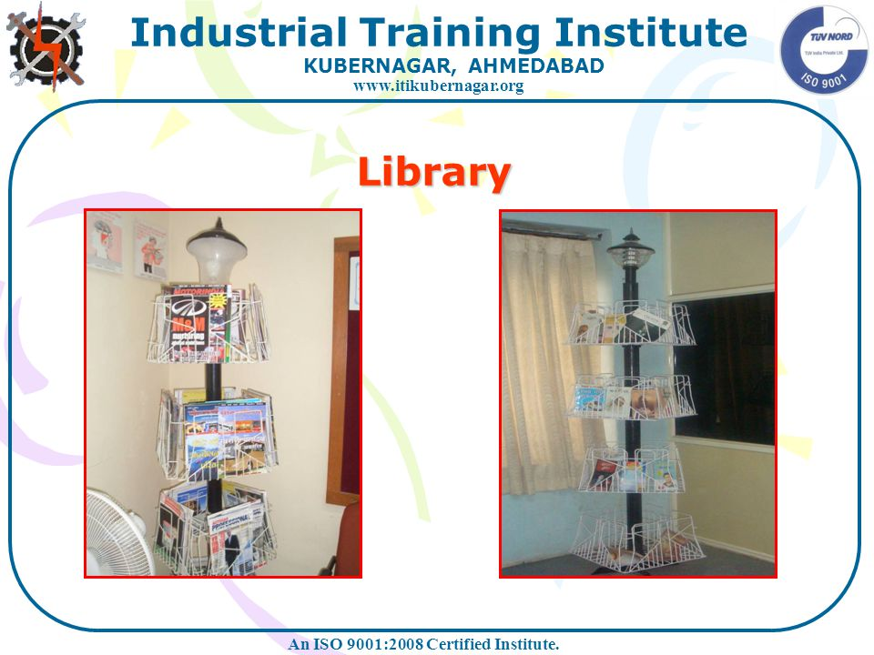 Library At Eicher Workshop At I.T.I. Workshop