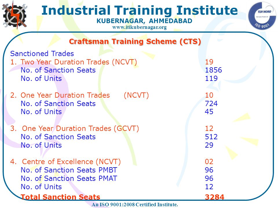 Craftsman Training Scheme (CTS)