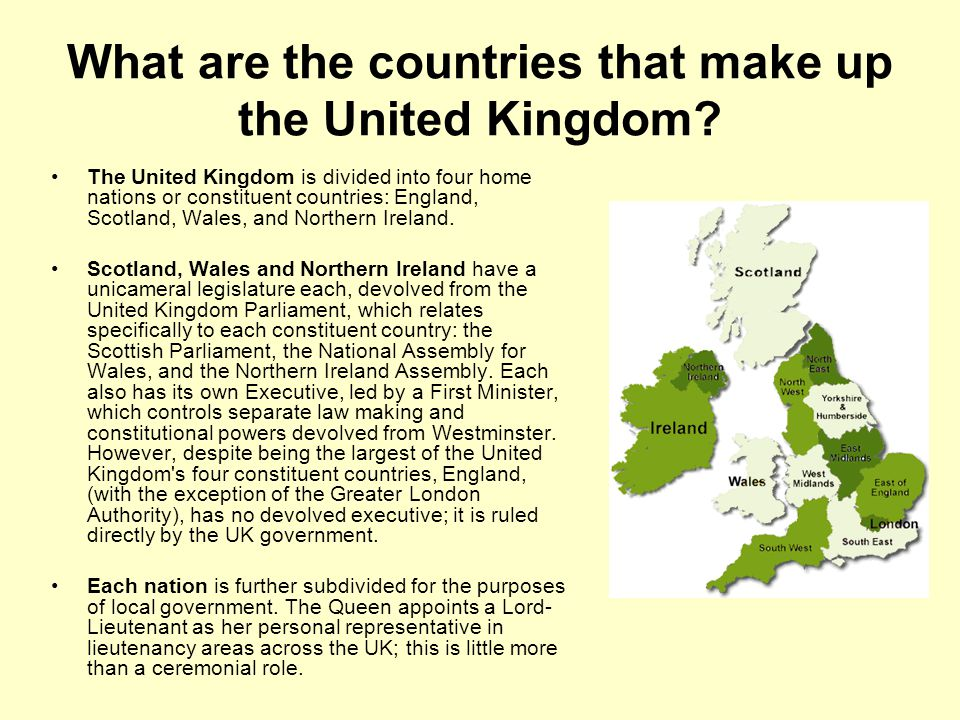 What are the countries that make up the United Kingdom