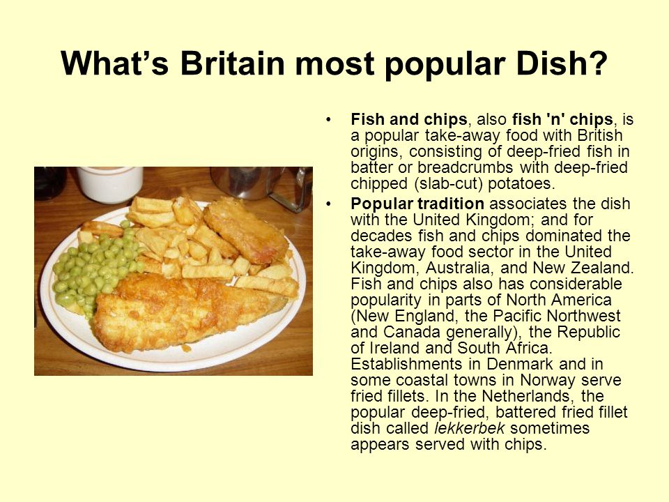 What's Britain most popular Dish