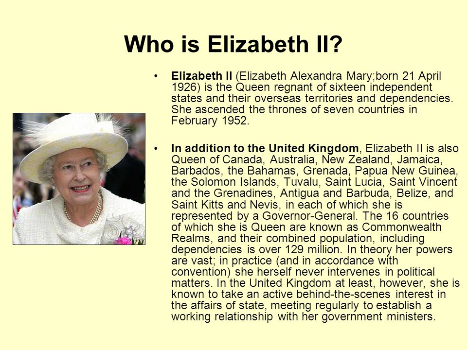 Who is Elizabeth II