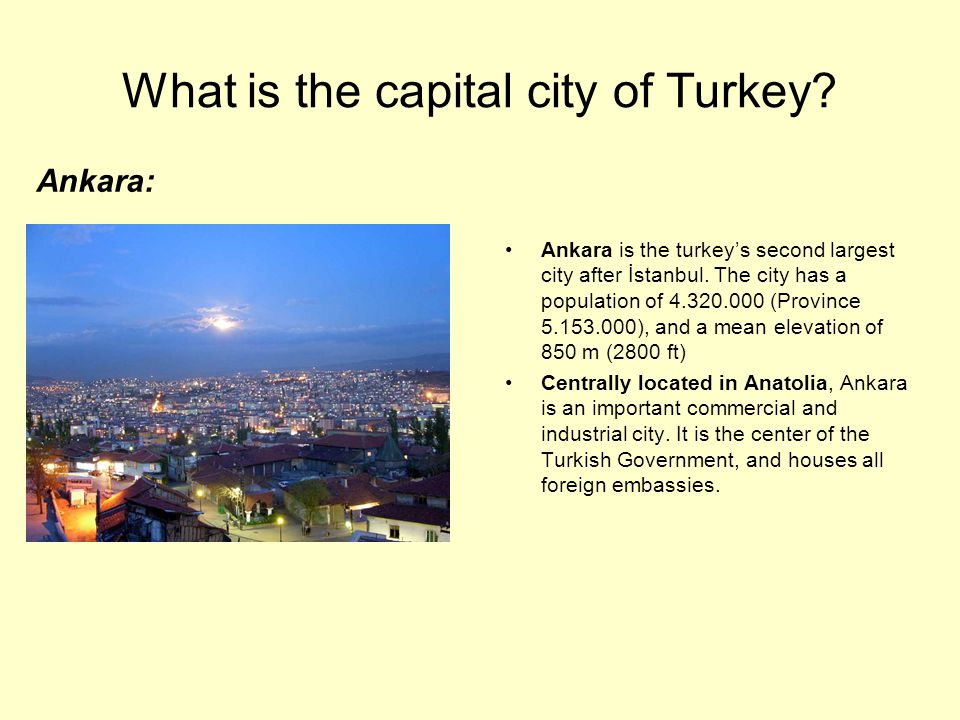 What is the capital city of Turkey
