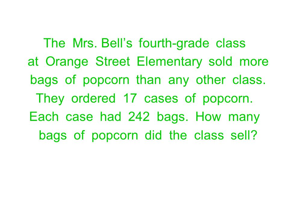 The Mrs. Bell's fourth-grade class