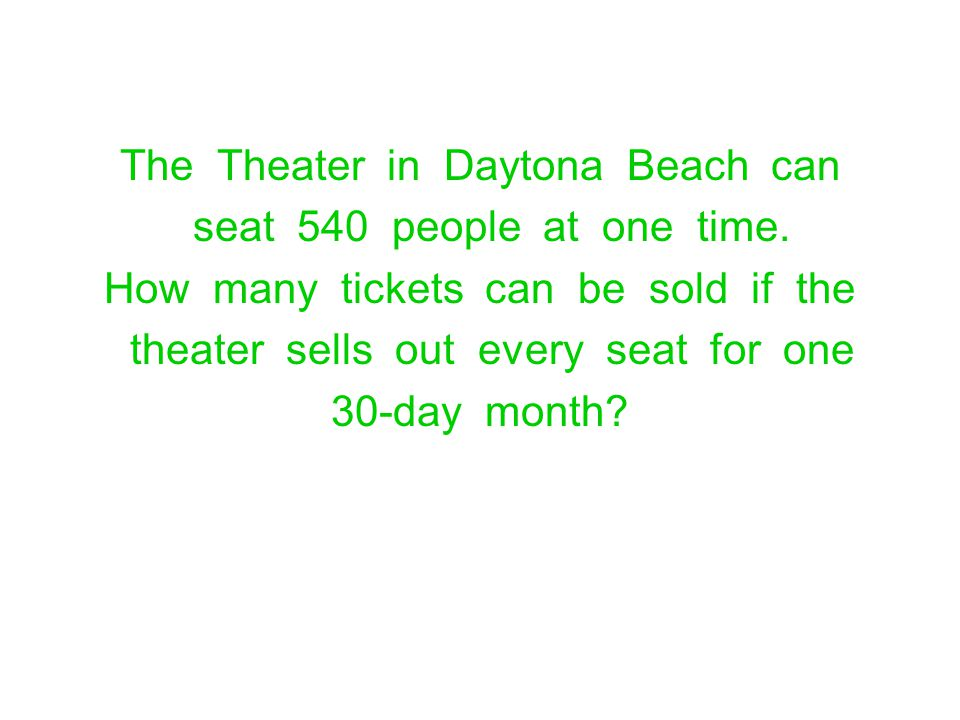 The Theater in Daytona Beach can seat 540 people at one time.