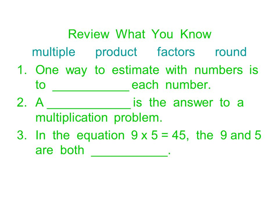 multiple product factors round