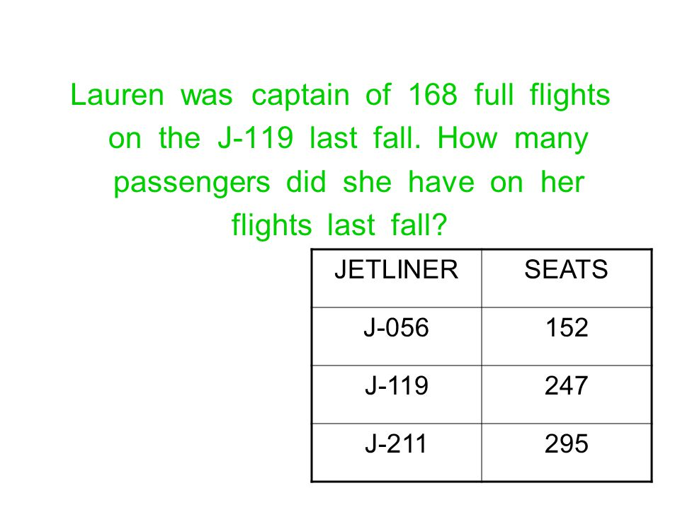 Lauren was captain of 168 full flights