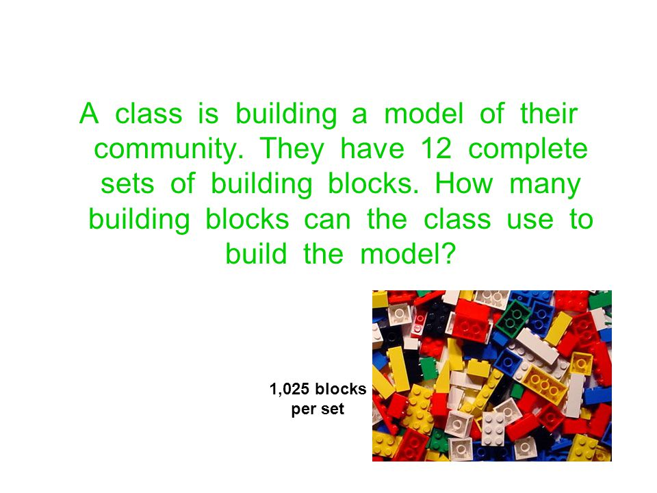 A class is building a model of their community