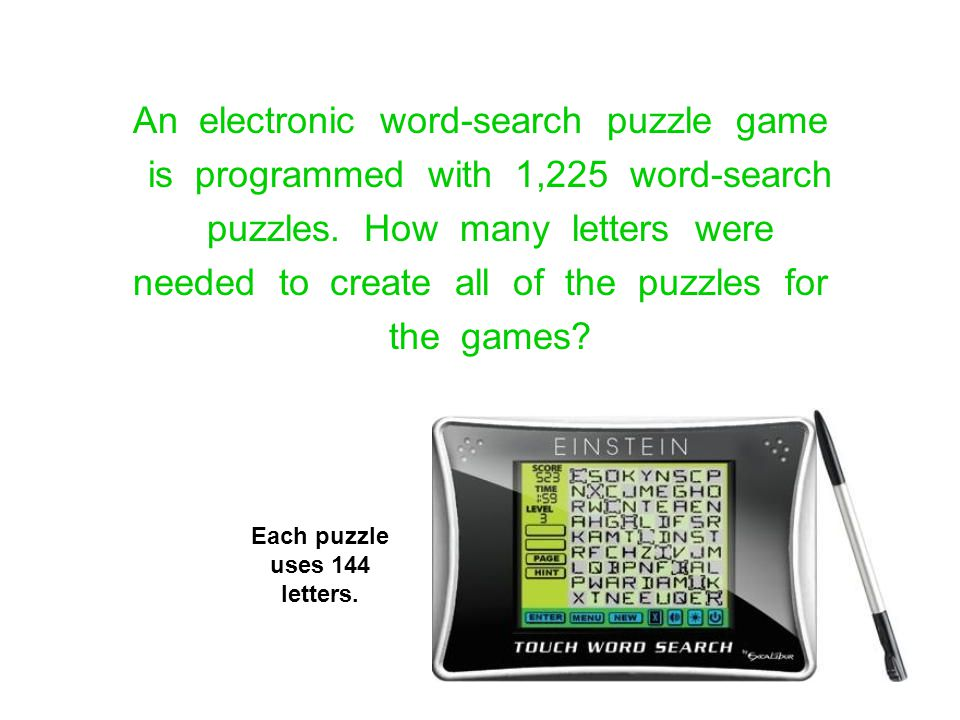 An electronic word-search puzzle game