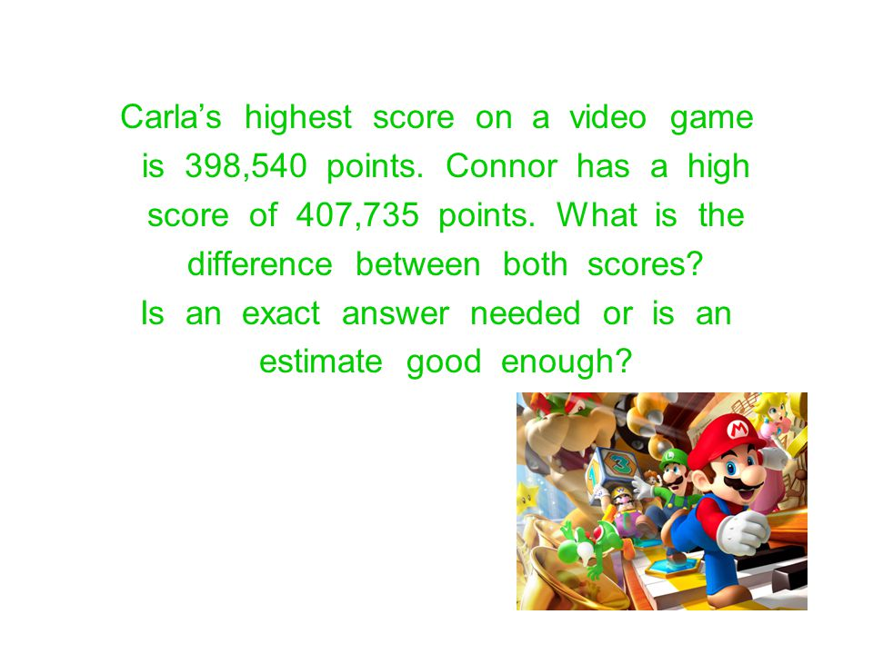 Carla's highest score on a video game