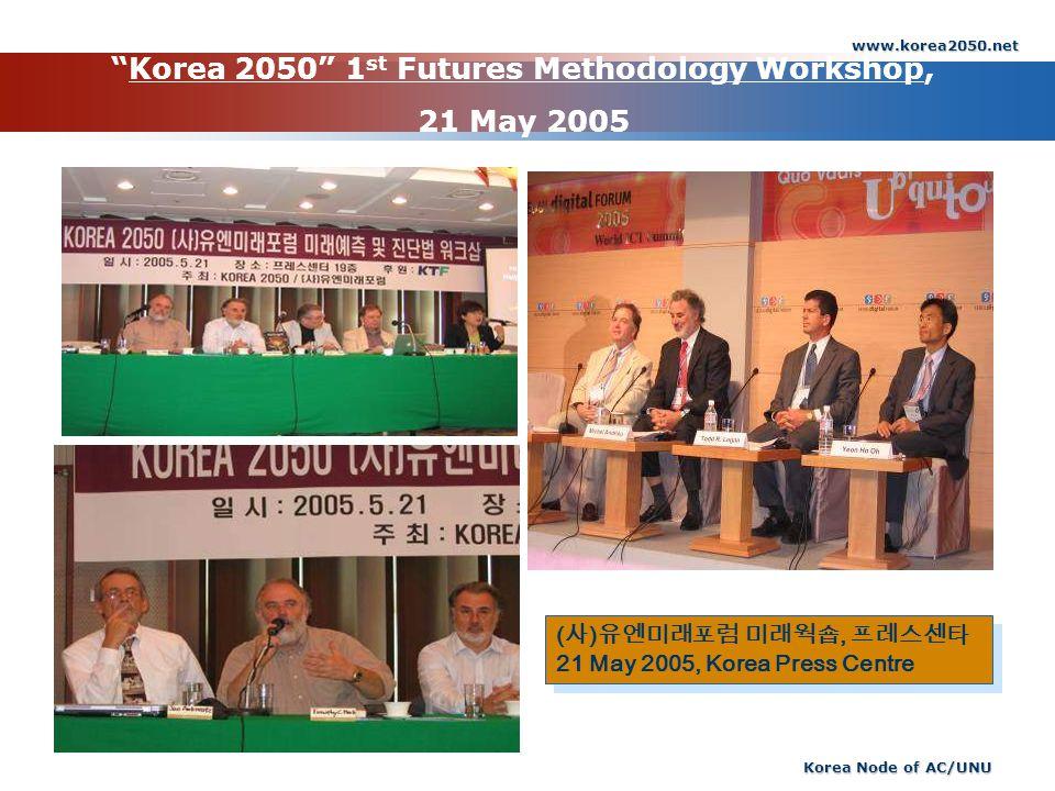 Korea 2050 1st Futures Methodology Workshop, 21 May 2005