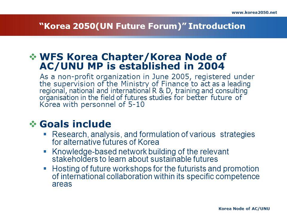 Korea 2050(UN Future Forum) Introduction