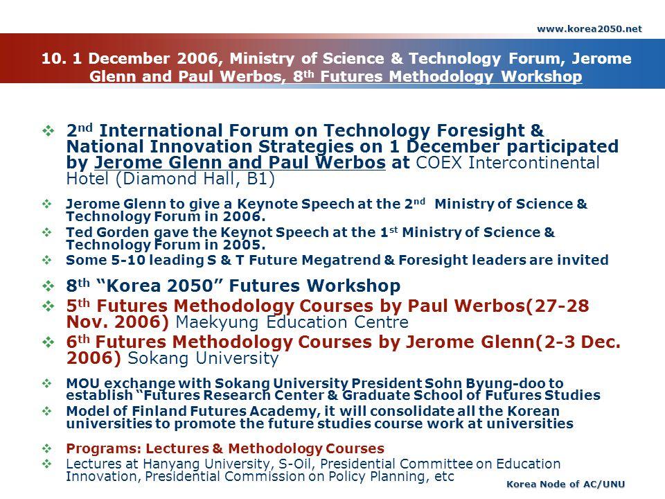 8th Korea 2050 Futures Workshop