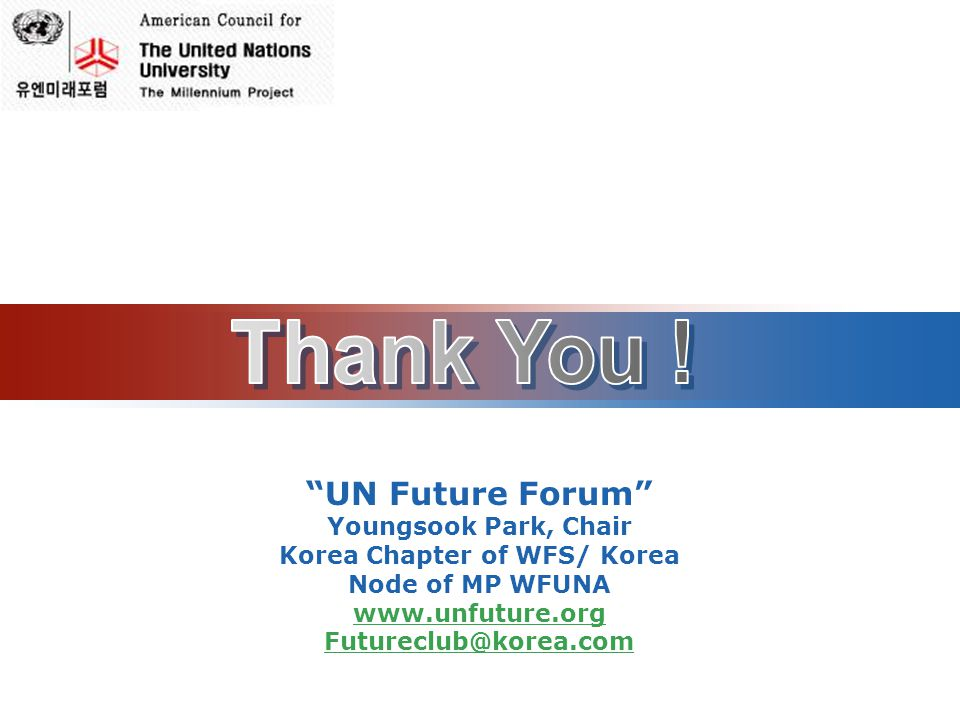 Korea Chapter of WFS/ Korea Node of MP WFUNA