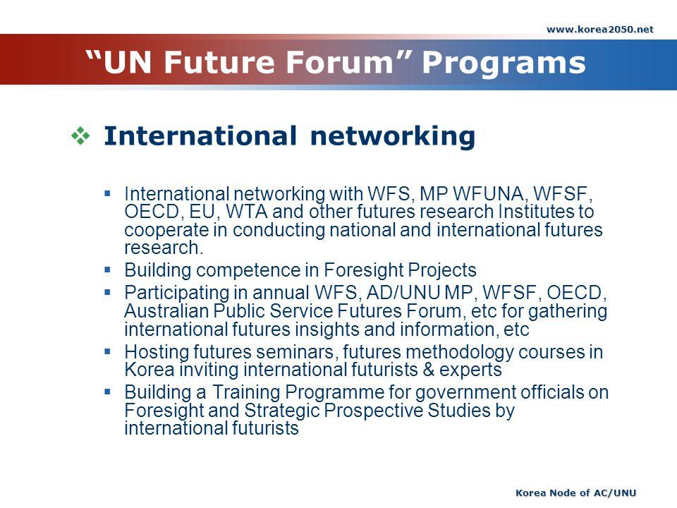 UN Future Forum Programs