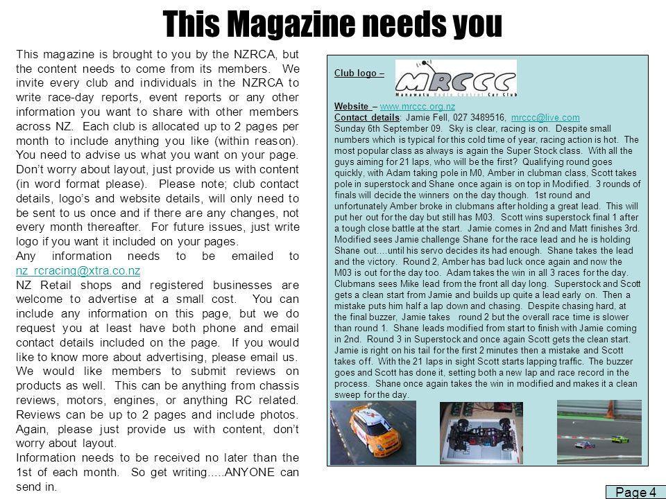 This Magazine needs you